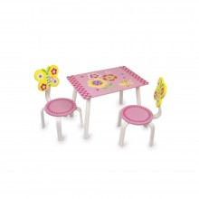 Masuta copii cu 2 scaune Fluture