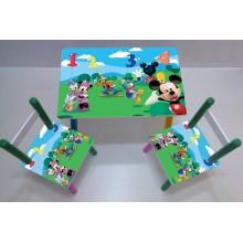 Masuta copii cu 2 scaune Disney Mickey Mouse
