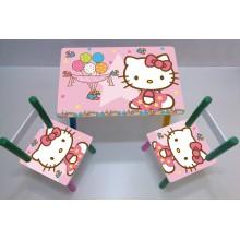 Masuta copii cu 2 scaune Disney Hello Kitty