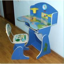 Birouri copii cu scaunel reglabil