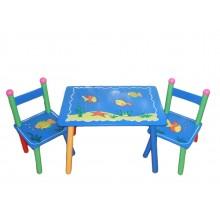 Masuta copii cu 2 scaune Peste