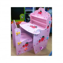 Birou copii cu scaunel Capsunica