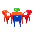 Masa copii de plastic cu 4 scaune