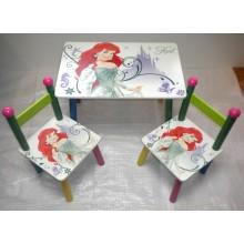Masuta copii cu 2 scaune Disney Ariel