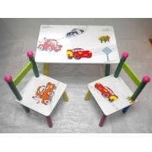 Masuta copii cu 2 scaune Disney Cars