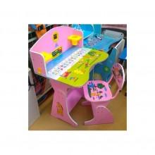 Birou copii cu scaunel reglabil Printesa